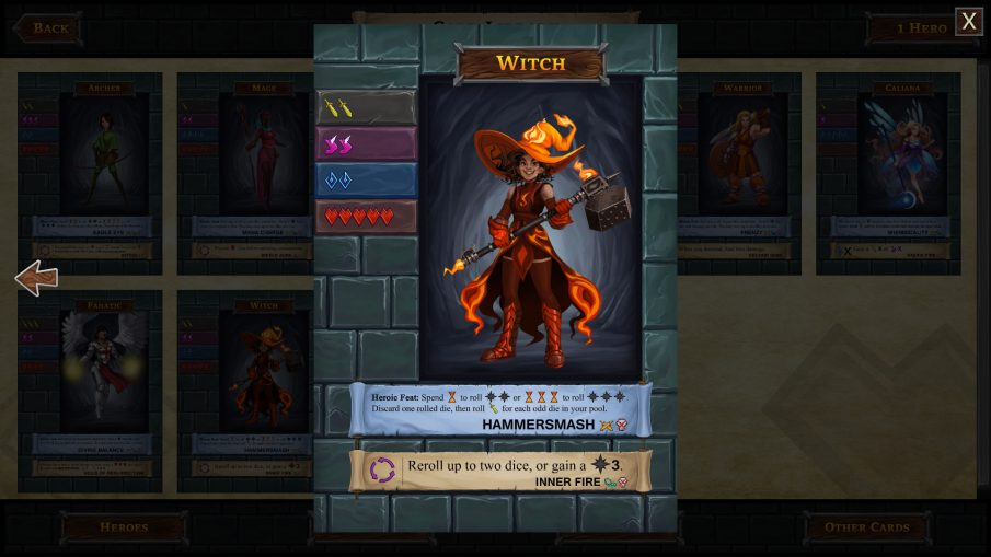 One Deck Dungeon Gets Two New Dlc To Try The Witch And The Cinder